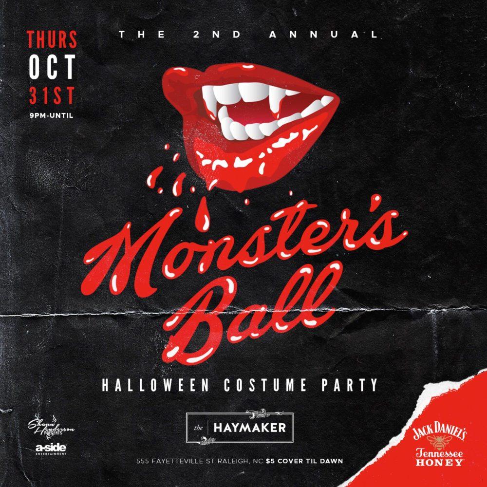Thursday, October 31, 2019: Second Annual Monster's Ball
