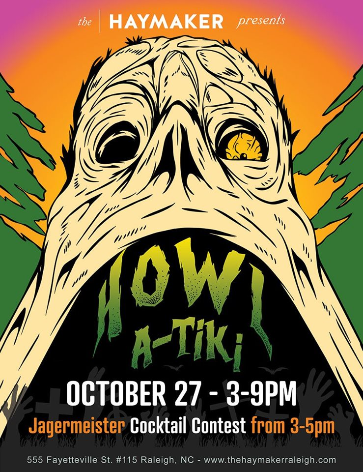 Sunday, October 27, 2019: Strange Seas, Howl-A-Tiki Jagermeister Cocktail Contest, & Tiki Pop-Up