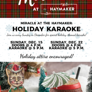 2019-12-31 - Miracle at The Haymaker Posters2 - Karaoke