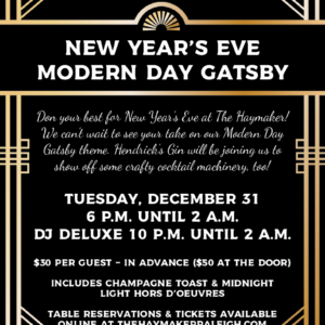 2019-12-31 - The Haymaker - New Year's Eve - Downtown Raleigh